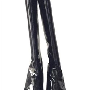 Oh Deer! Brand Black Patent Boots